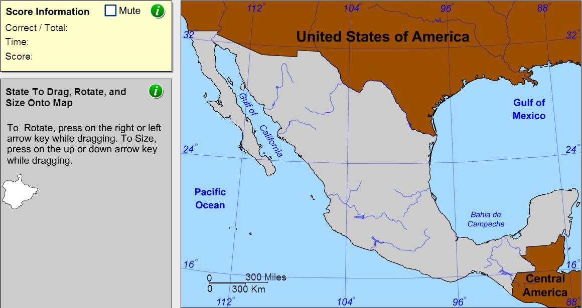 States of Mexico. Cartographer. Sheppard Software