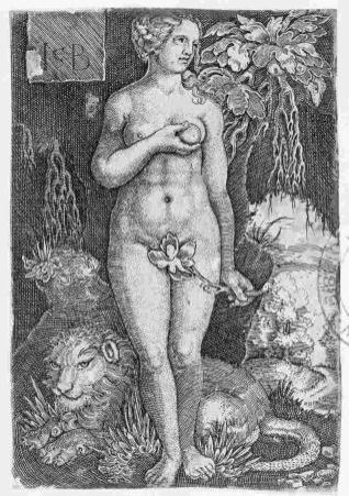 Adán y Eva de pie