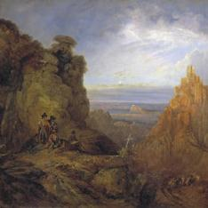 Vista del Castillo de Gaucín