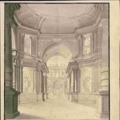 Pórtico y patio de palacio
