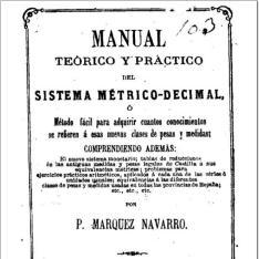 Manual teórico y práctico del sistema métrico-decimal