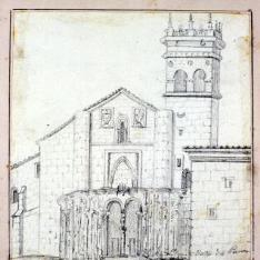 Fachada de la iglesia del monasterio del Parral, Segovia