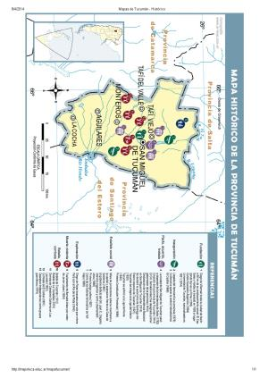 Mapa histórico de Tucumán. Mapoteca de Educ.ar