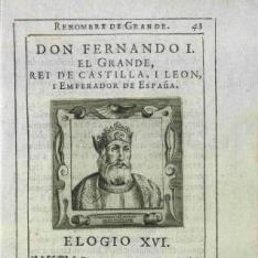 Retrato de Fernando I, Rey de Castilla y Leó