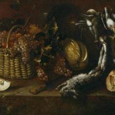 Bodegón de caza y fruta