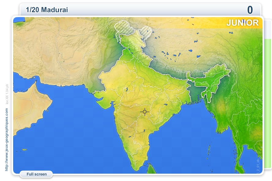 Cities of India Junior . Geography map games