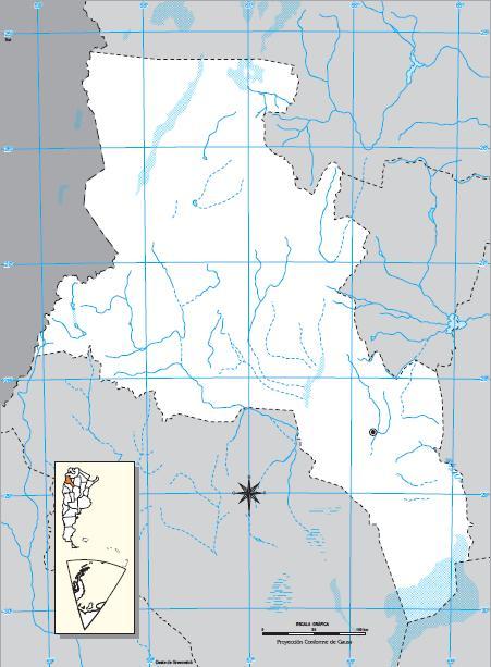 Mapa mudo de Catamarca. IGN de Argentina