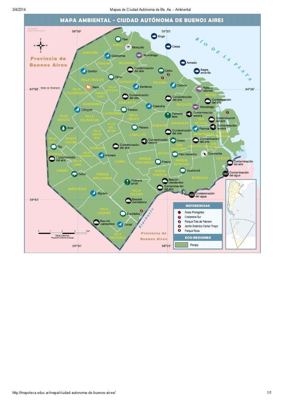 Mapa ambiental de la ciudad de Buenos Aires. Mapoteca de Educ.ar