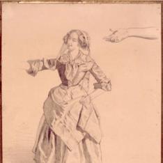 Estudio con figura femenina y brazo