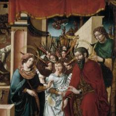 Nacimiento de Cristo con la Adoración de los ángeles