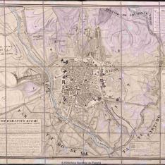 Plano Topografico Estadco. de la Villa y Corte de Madrid y sus Afueras