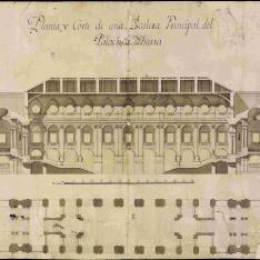 Escalera principal del proyecto de Juvarra para el Palacio Real de Madrid