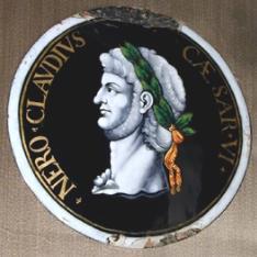 Placa del emperador Nerón