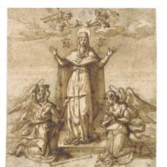 La Virgen coronada por ángeles