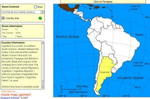 Countries of South and Central America. Beginner. Sheppard Software