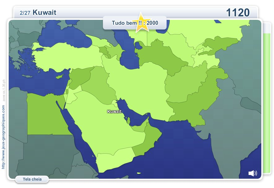 Geo Quizz Oriente Médio.  Jogos geográficos