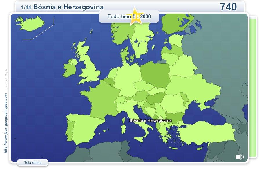 Geo Quizz Europa.  Jogos geográficos