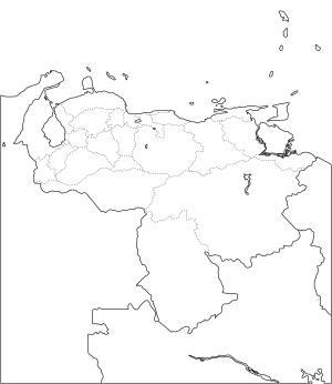 Mapa de estados de Venezuela. Freemap