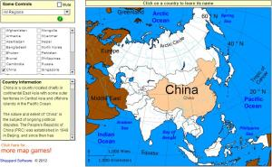 Countries of Asia. Tutorial. Sheppard Software