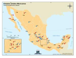 Mapa cultural de México. INEGI de México