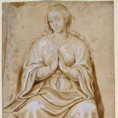 La Virgen, sedente
