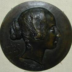 Medallón con el retrato de George Sand