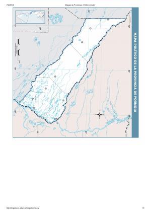 Mapa mudo de capitales de Formosa. Mapoteca de Educ.ar