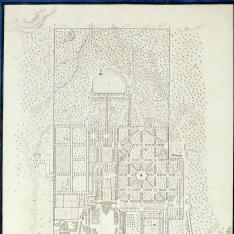 Plan general, y explicación delos Jardines y Real Sitio de San Yldefonso