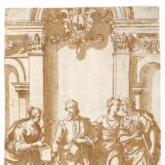 Tres Virtudes acompañando a un joven (Giovanni Battista Albani)