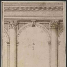 Arqueria con columnas de orden corintio