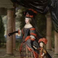 María Teresa de Austria y el Gran Delfín de Francia