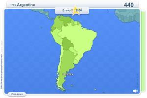 Pays d'Amérique du Sud. Jeux géographiques