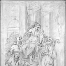 La Virgen y el Niño con santos