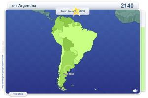 Geo Quizz América do Sul.  Jogos geográficos