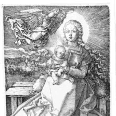 La Virgen con el Niño coronada por un ángel
