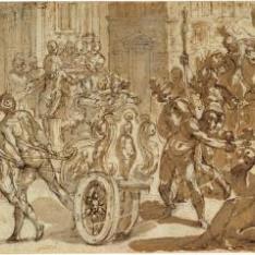 Soldados saqueando una ciudad