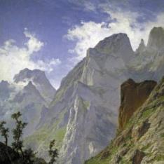 La canal de Mancorbo en los Picos de Europa