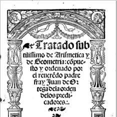 Tratado subtilissimo de arismetica y de geometria