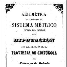 Aritmética con la esplicación [sic] del sistema métrico