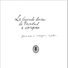 Legenda aurea sanctorum (en francés:) La lègende dorée