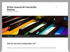 El bloc musical de l'escola Els Estanys
