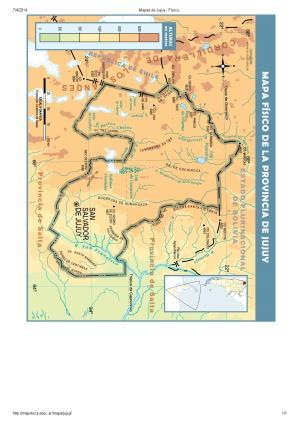 Mapa de ríos de Jujuy. Mapoteca de Educ.ar