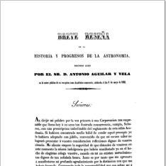 Breve reseña de la historia y progresos de la astronomía