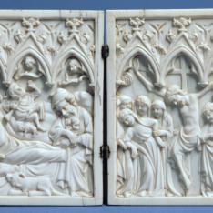 Díptico con la Natividad y la Crucifixión