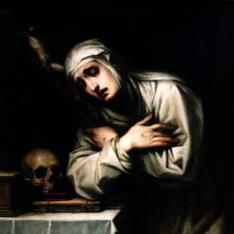 Santa monja en oración