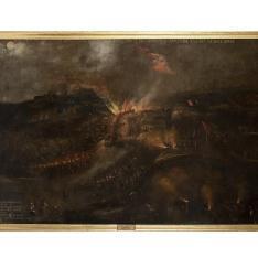 Batalla en Italia - Batalla ocurrida en la noche del 21 de junio de 1615: salida a las trincheras de las tropas saboyanas