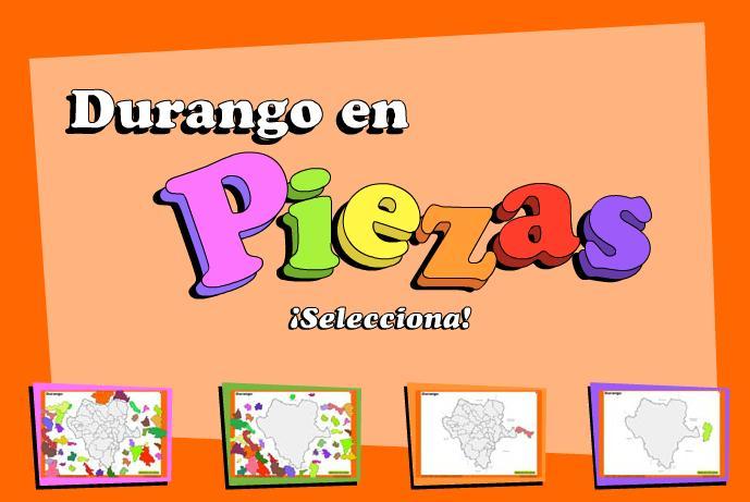 Municipios de Durango. Puzzle. INEGI de México