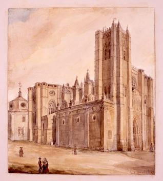 Vista de la catedral de Ávila