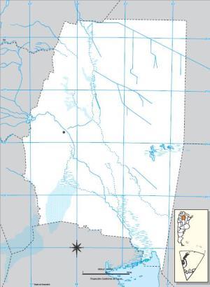 Mapa mudo de Santiago del Estero. IGN de Argentina