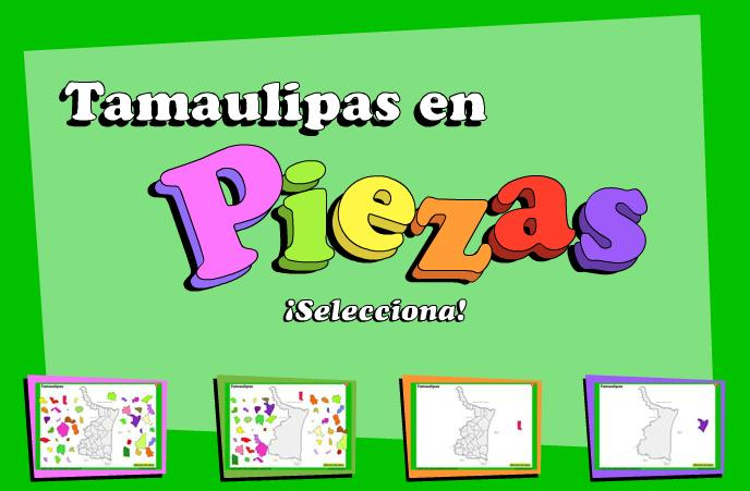 Municipios de Tamaulipas. Puzzle. INEGI de México